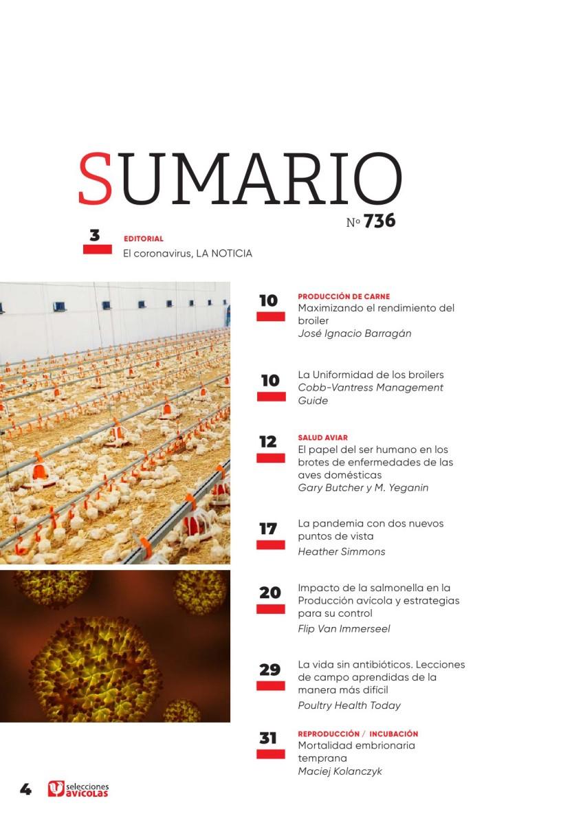 Sumario SELECCIONES AVICOLAS N#736