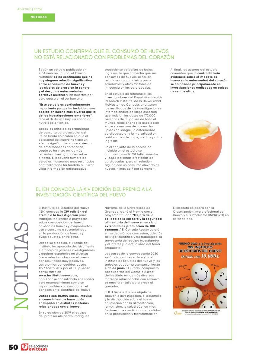 Un estudio confirma que el consumo de huevos no está relacionado con problemas del corazón