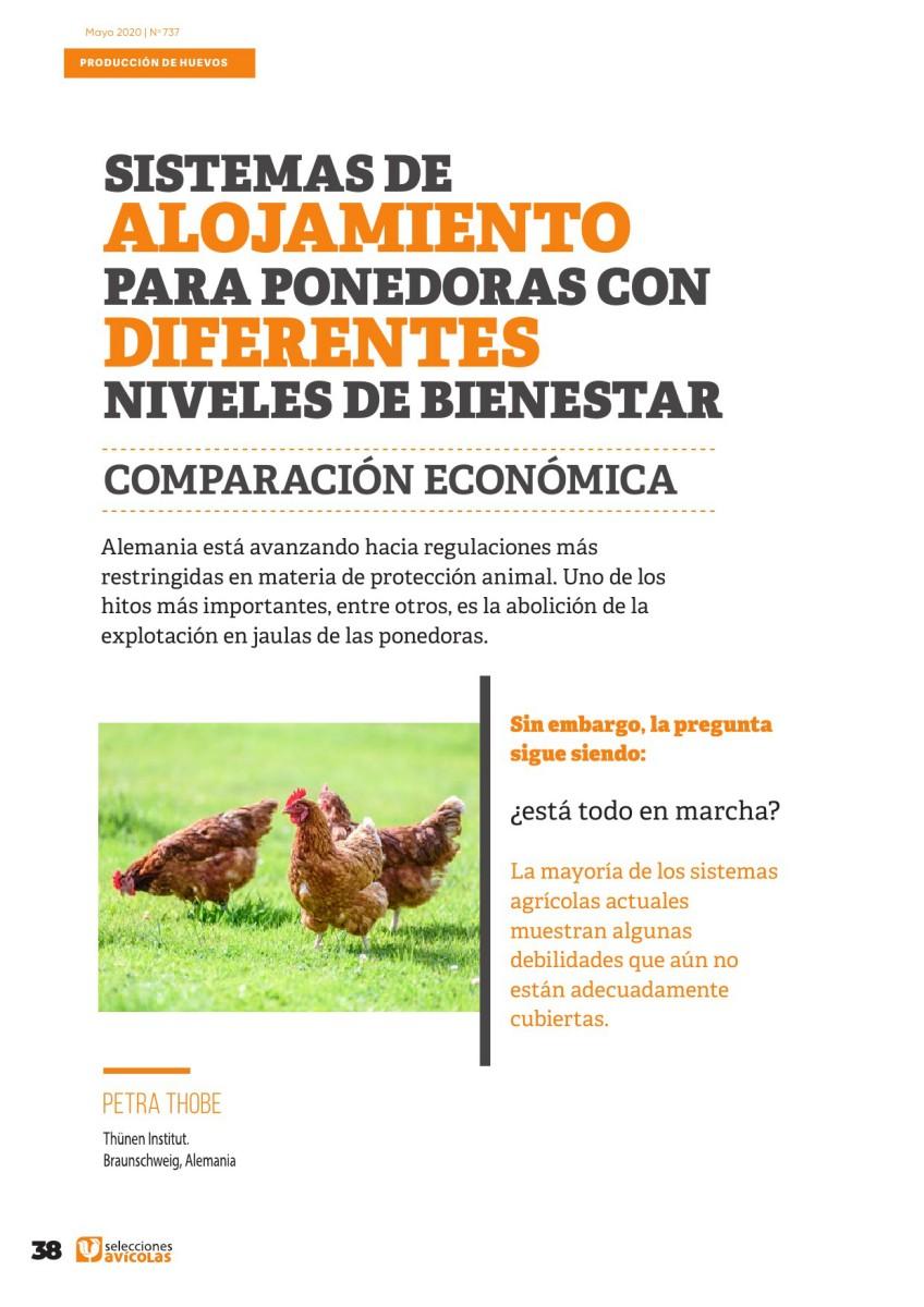 Sistemas de alojamiento para ponedoras con diferentes niveles de bienestar: comparación económica