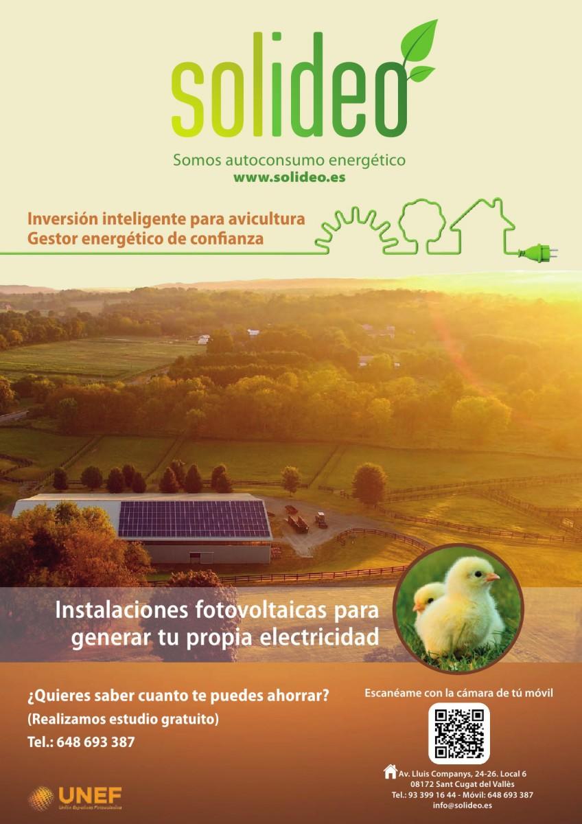 Ad SOLIDEO fotovoltaica para avicultura