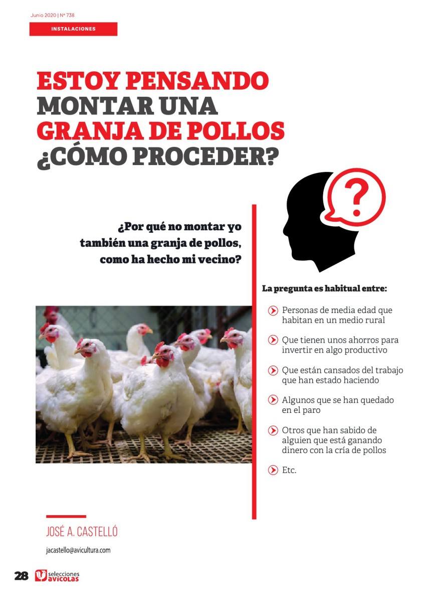 Especial INSTALACIONES AVICOLAS: Estoy pensando en montar una granja de pollos, ¿Cómo proceder?