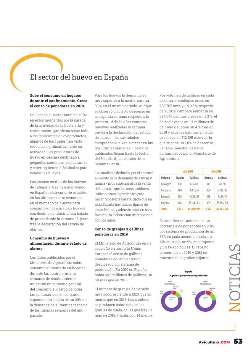 El sector del huevo en España
