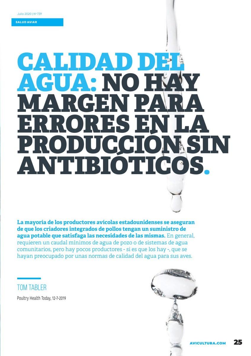 Calidad del agua: no hay margen para errores en la producción sin antibióticos