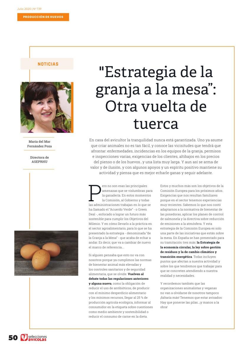 """""""Estrategia de la granja a la mesa"""":  Otra vuelta de tuerca"""