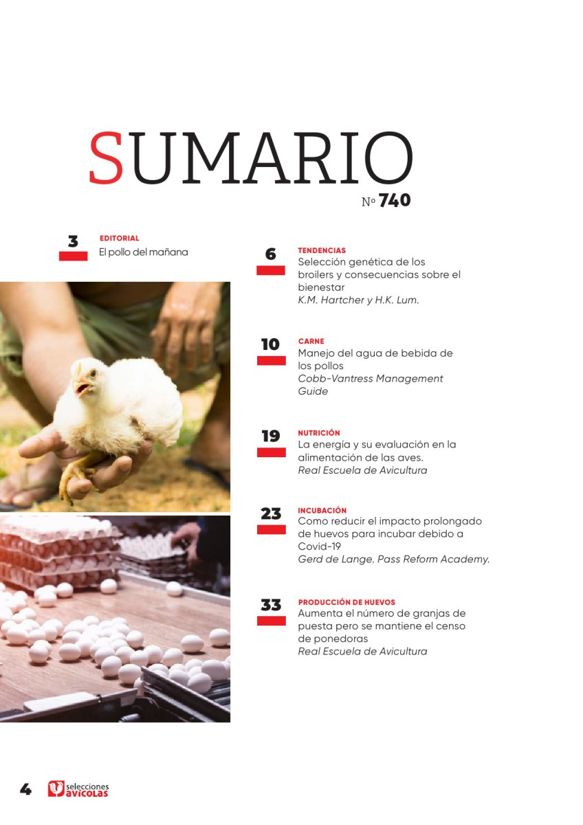 Sumario SELECCIONES AVICOLAS N#740