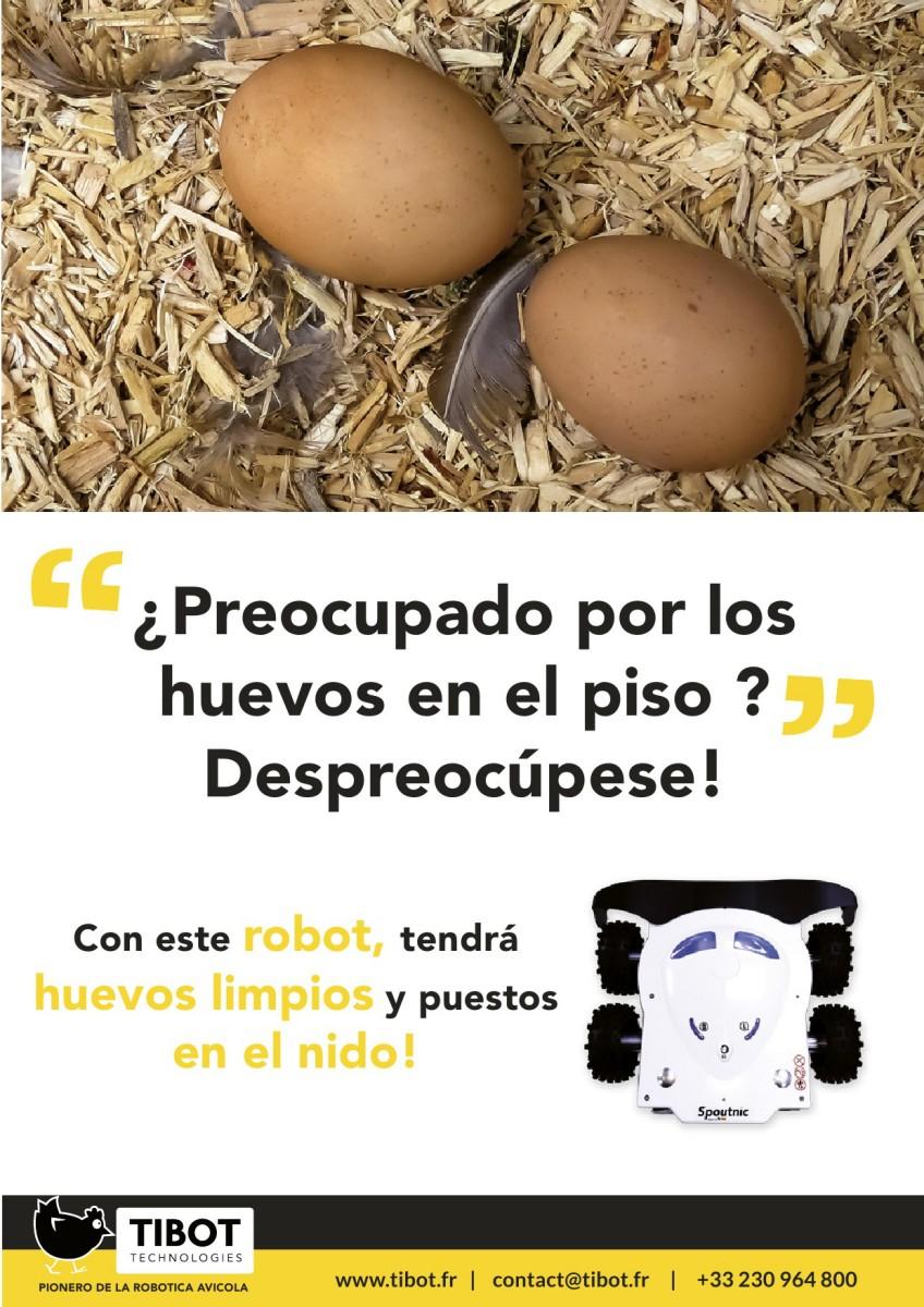 Ad TIBOT robotica avícola gallinas