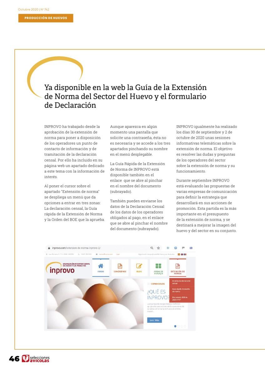 Ya disponible en la web la Guía de la Extensión de Norma del Sector del Huevo y el formulario de Declaración