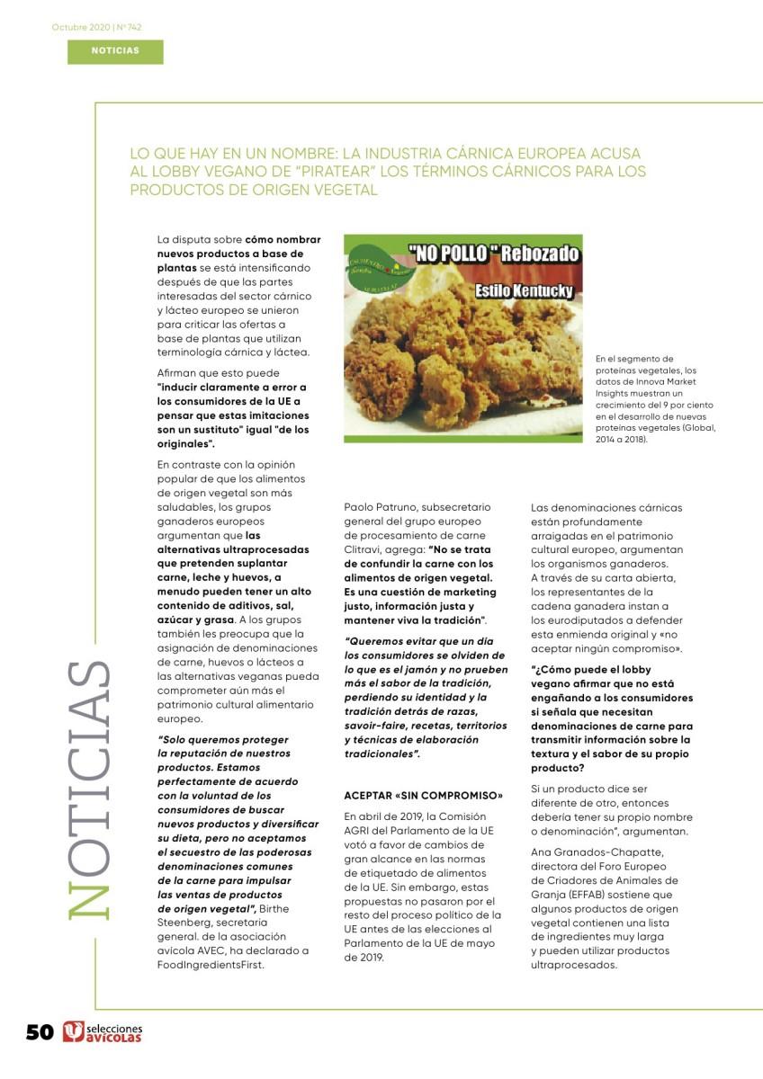 """Lo que hay en un nombre: la industria cárnica europea acusa al lobby vegano de """"piratear"""" los términos cárnicos para los productos de origen vegetal"""