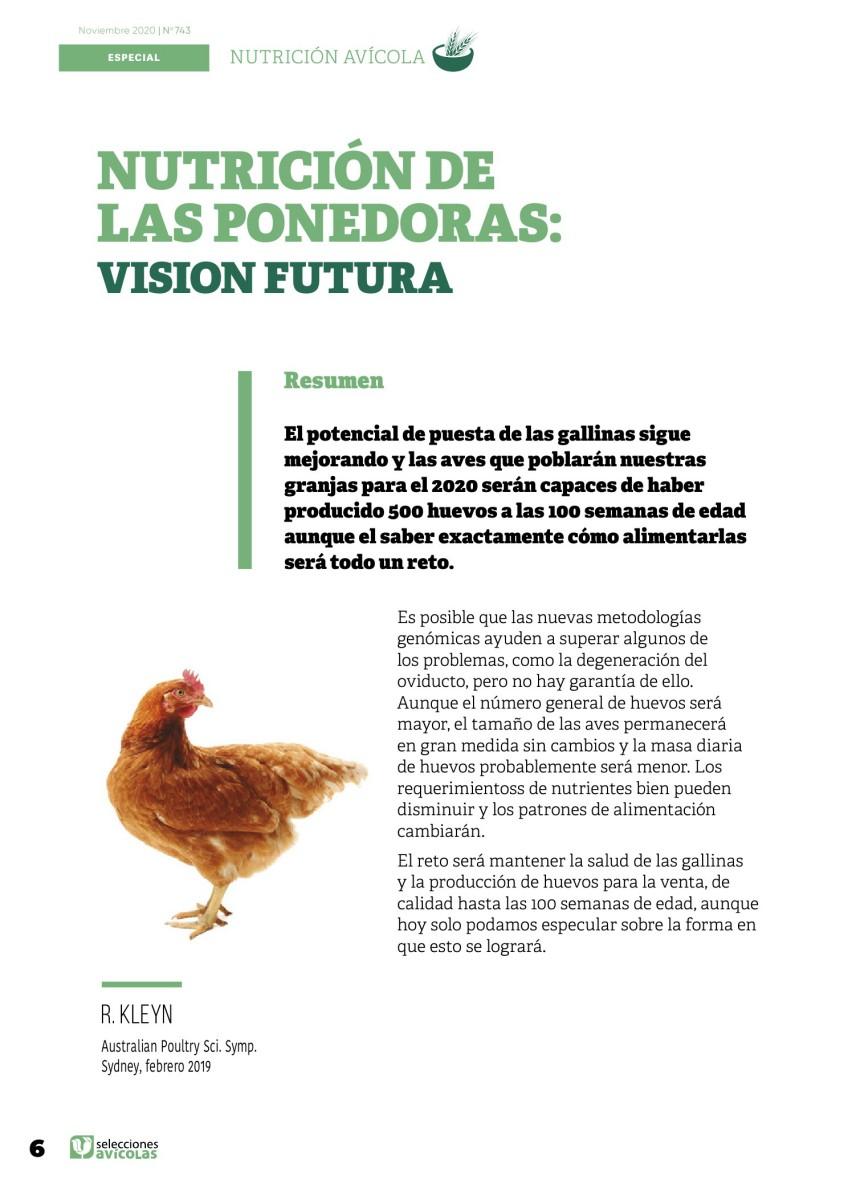 Especial NUTRICIÓN AVIAR: Nutrición de las ponedoras: visión futura