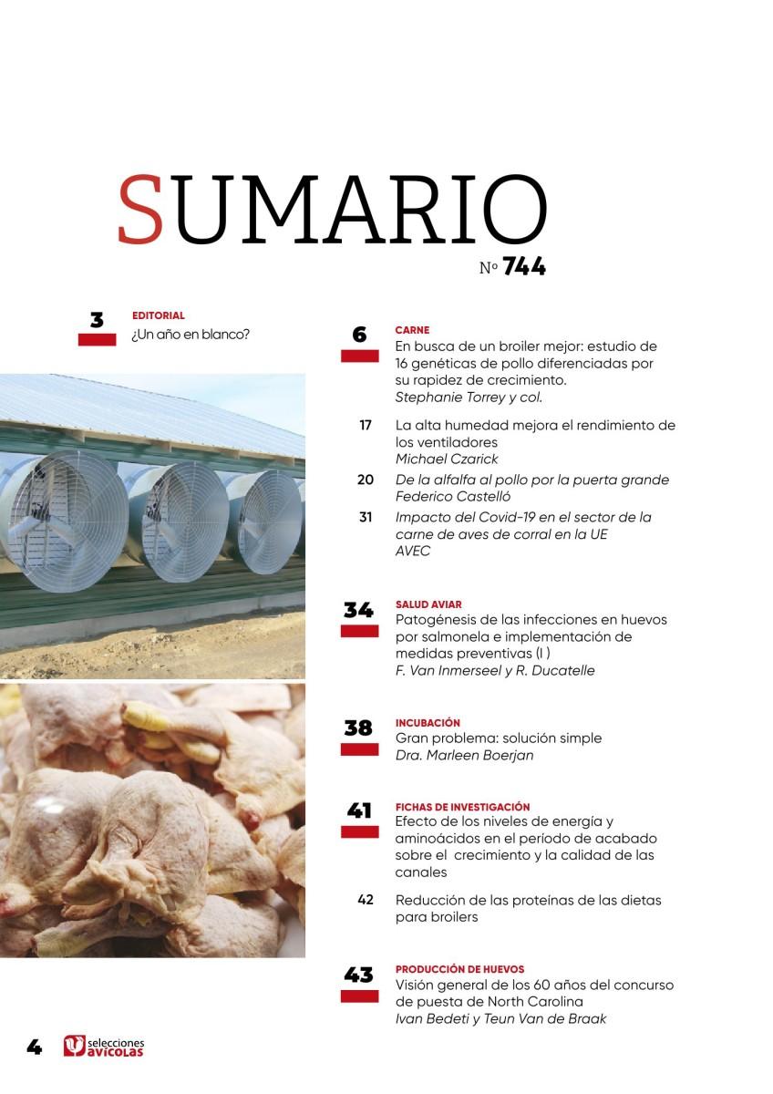 Sumario SELECCIONES AVICOLAS N#744