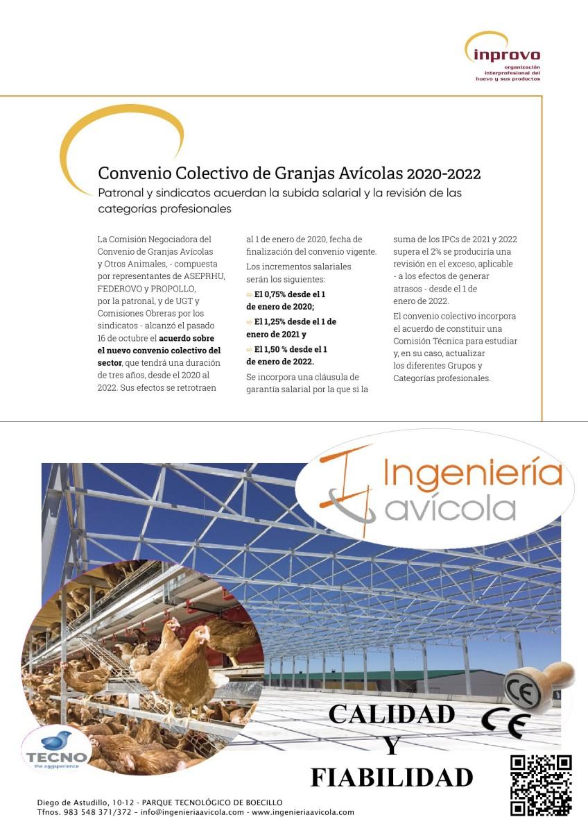 Convenio colectivo de granjas avícolas 2020-2022