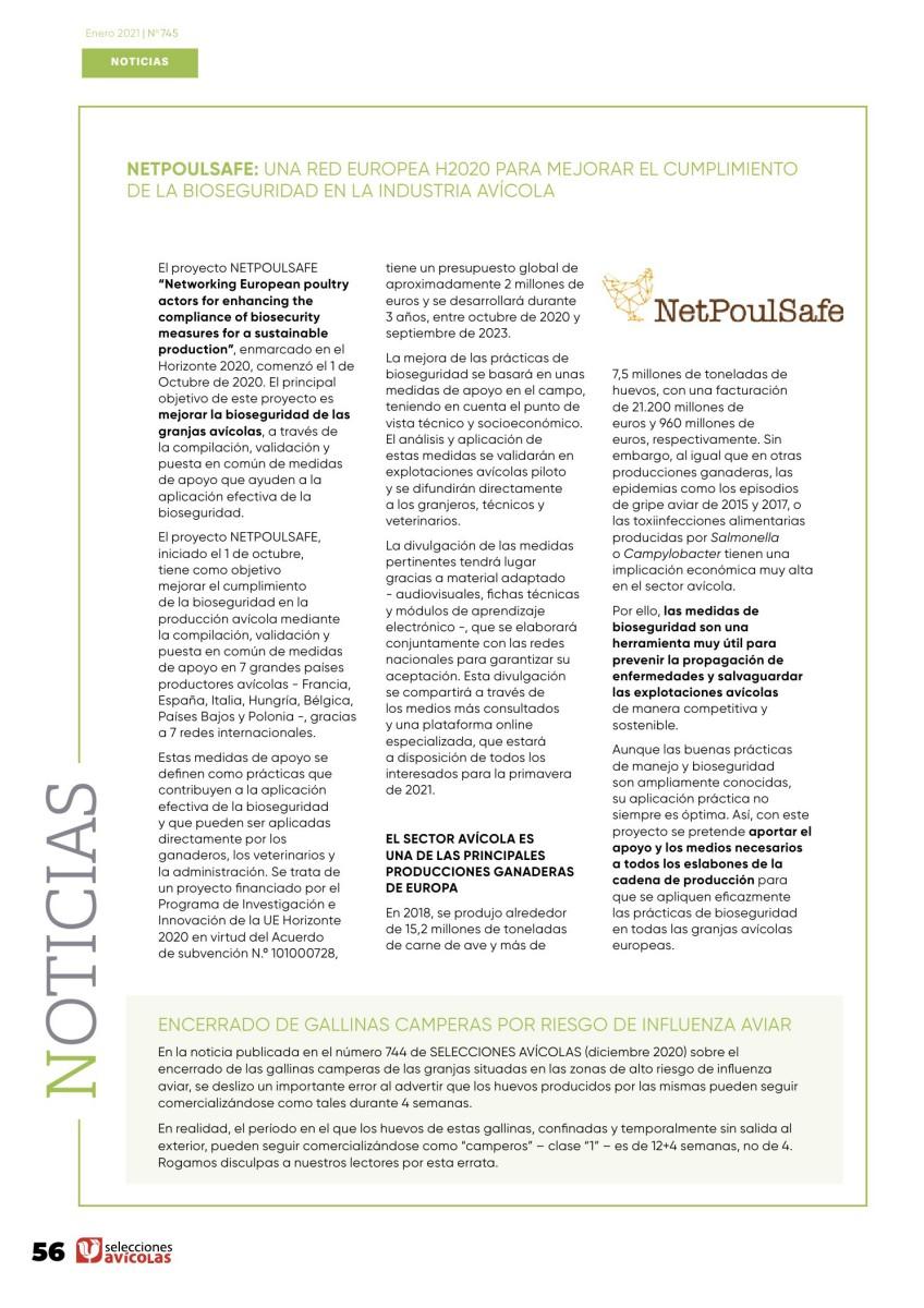 NETPOULSAFE: Una red europea H2020 para mejorar el cumplimiento de la bioseguridad en la industria avícola