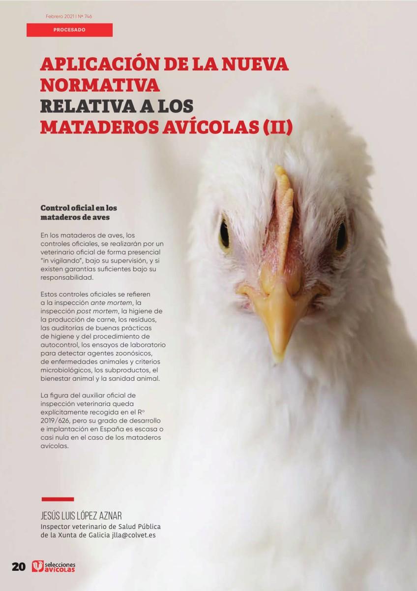 Aplicación de la nueva normativa relativa a los mataderos avícolas (II)