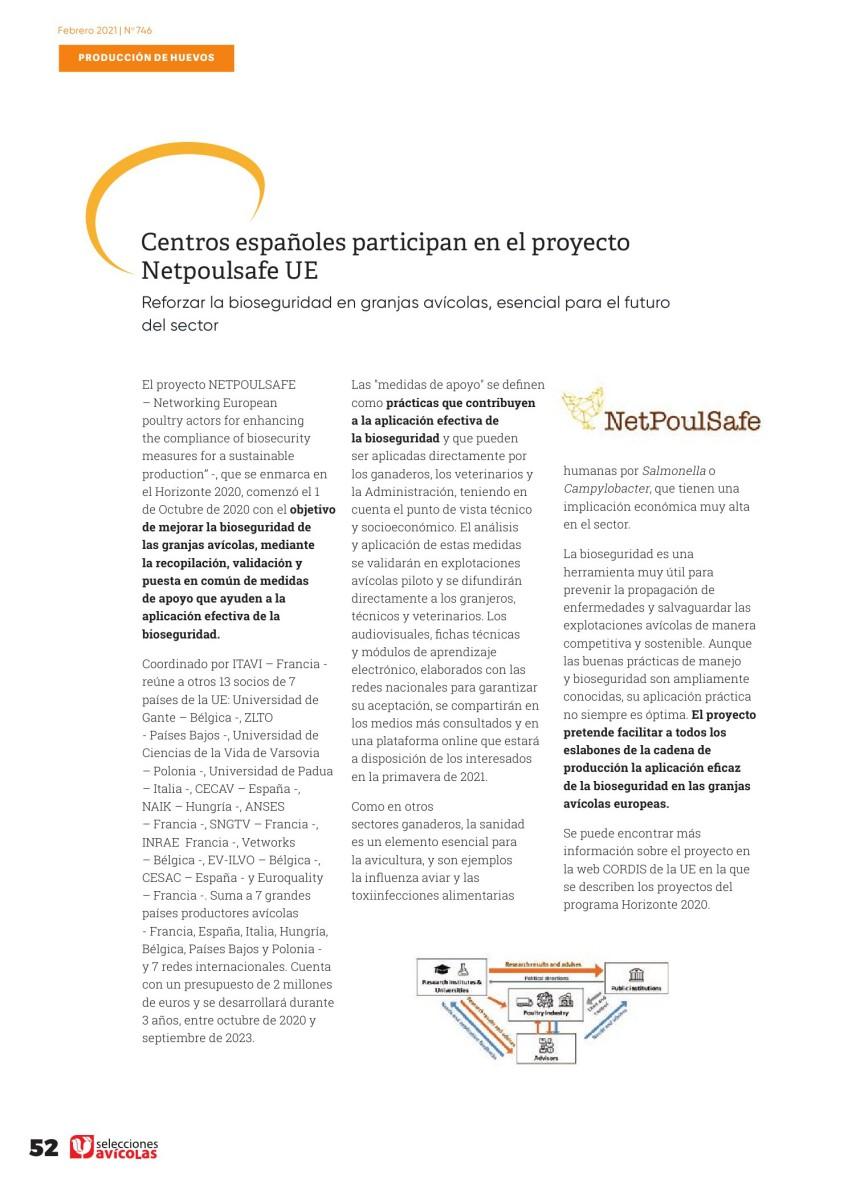 Centros españoles participan en el proyecto Netpoulsafe UE