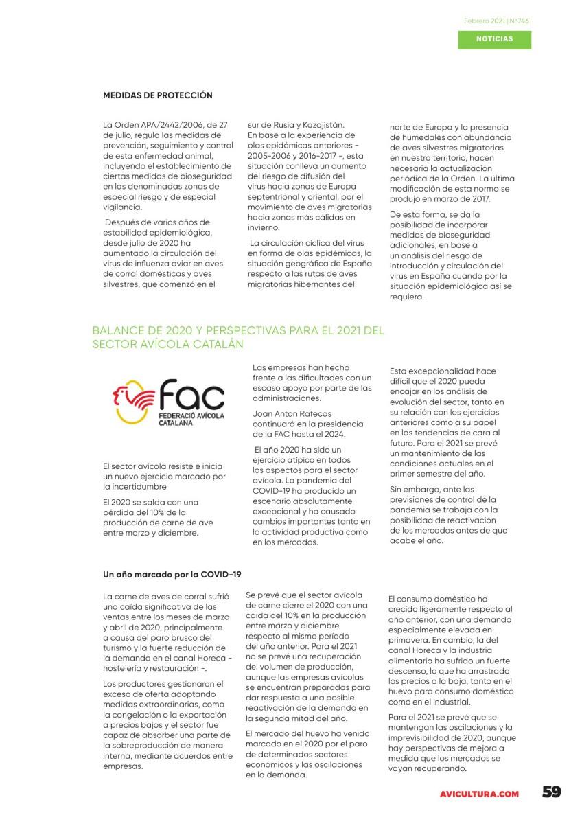 El MAPA actualiza la normativa por la que se establecen medidas específicas de protección frente a la influenza aviar