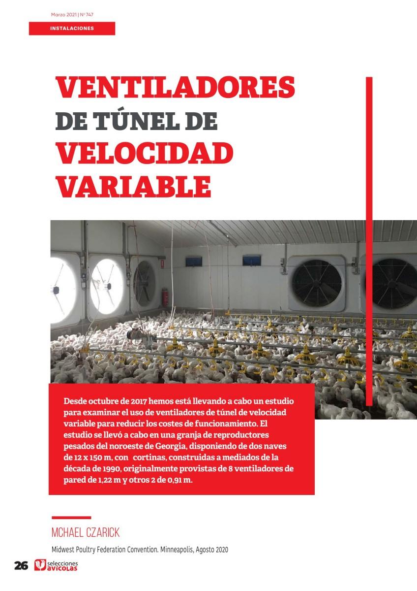 Ventiladores de túnel de velocidad variable