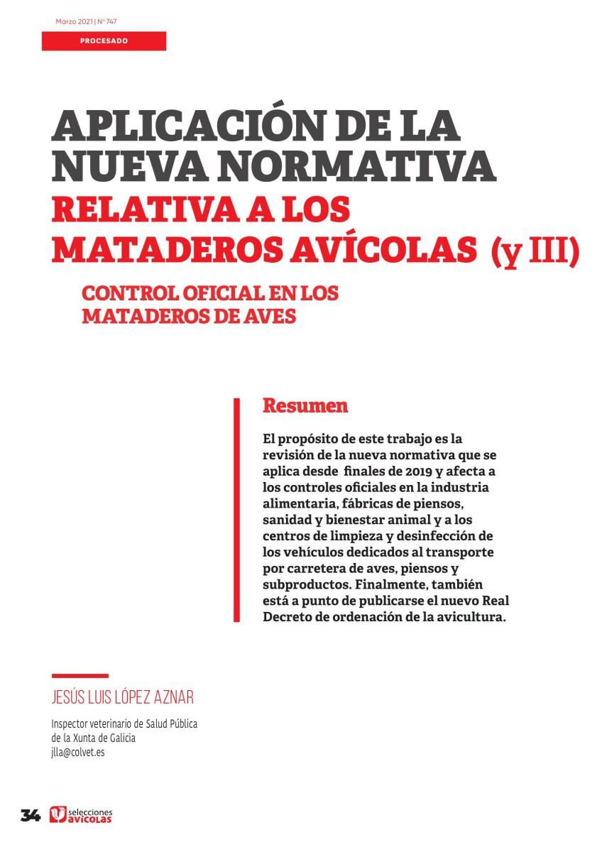 Aplicación de la nueva normativa relativa a los mataderos avícolas (III)