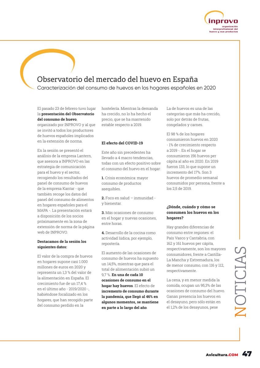 Observatorio del mercado del huevo en España