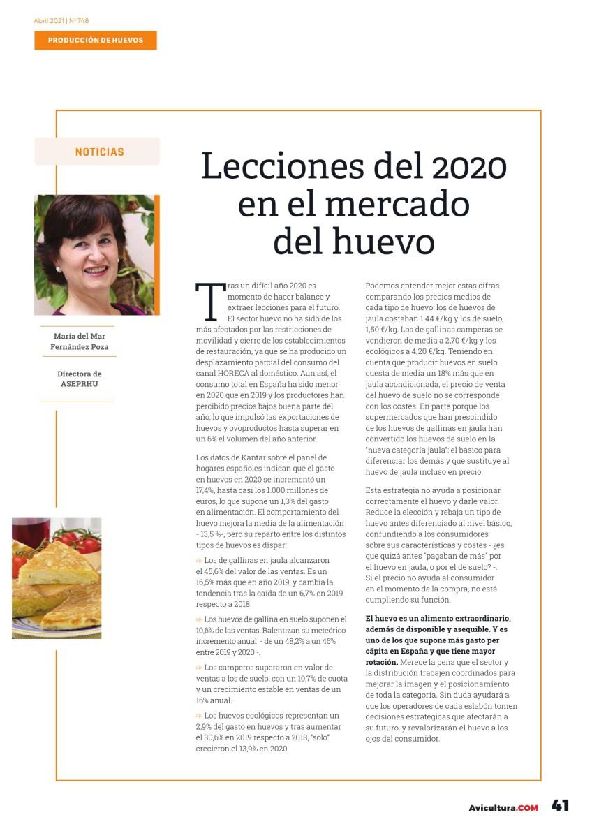 Lecciones del 2020 en el mercado del huevo