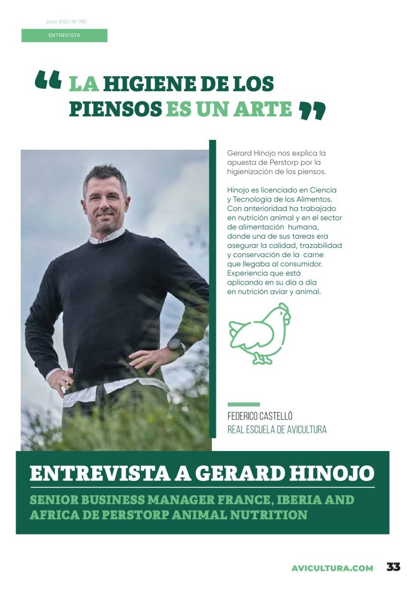 """Entrevista a Gerard Hinojo: """"La higiene de los piensos es un arte"""""""