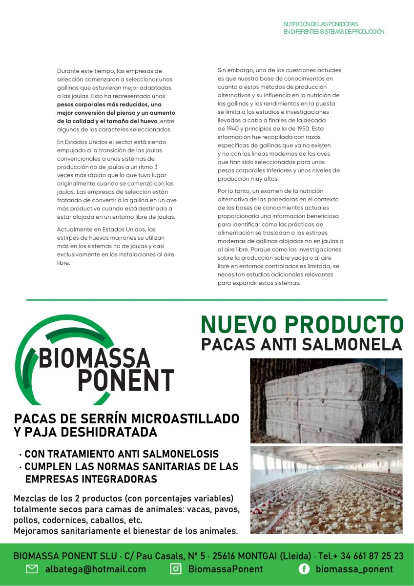 Ad Biomassa Ponent Cama y Pacas Anti Salmonela