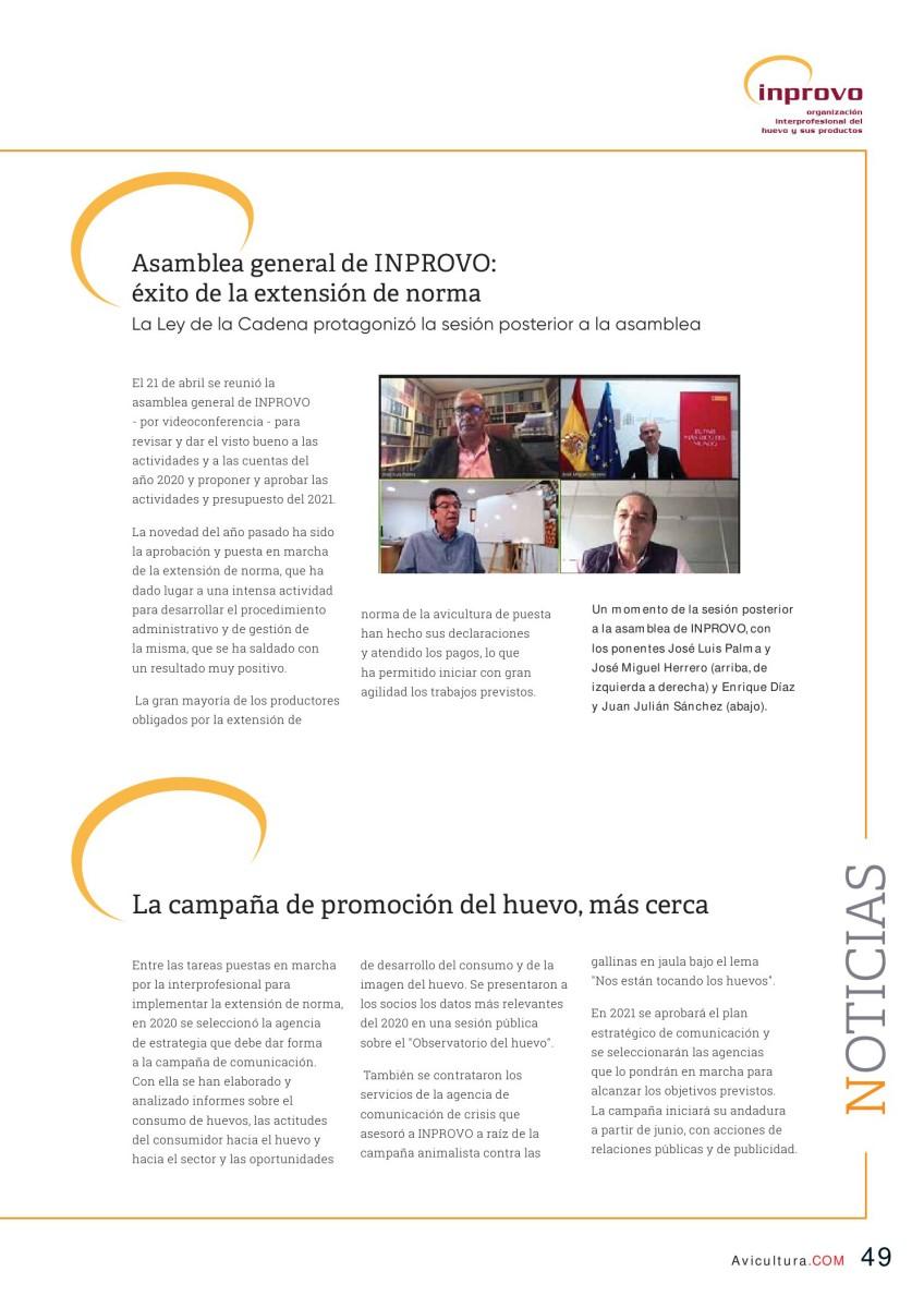 Asamblea general de INPROVO: éxito de la extensión de norma