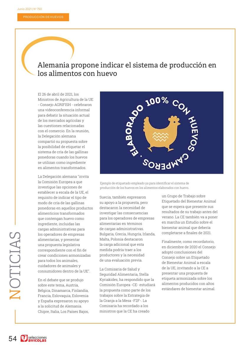 Alemania propone indicar el sistema de producción en los alimentos con huevo
