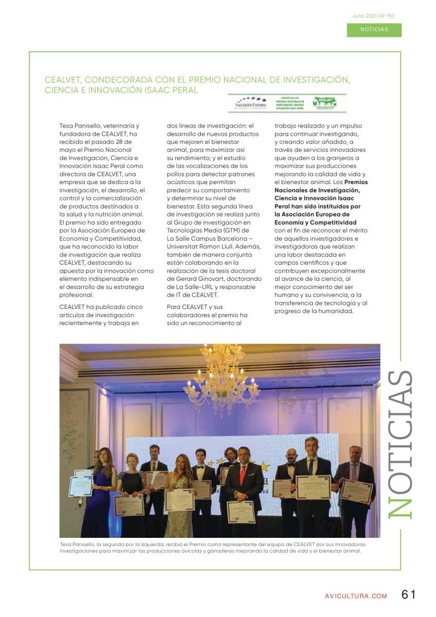 CEALVET, condecorada con el premio nacional de investigación, ciencia e innovación Isaac Peral