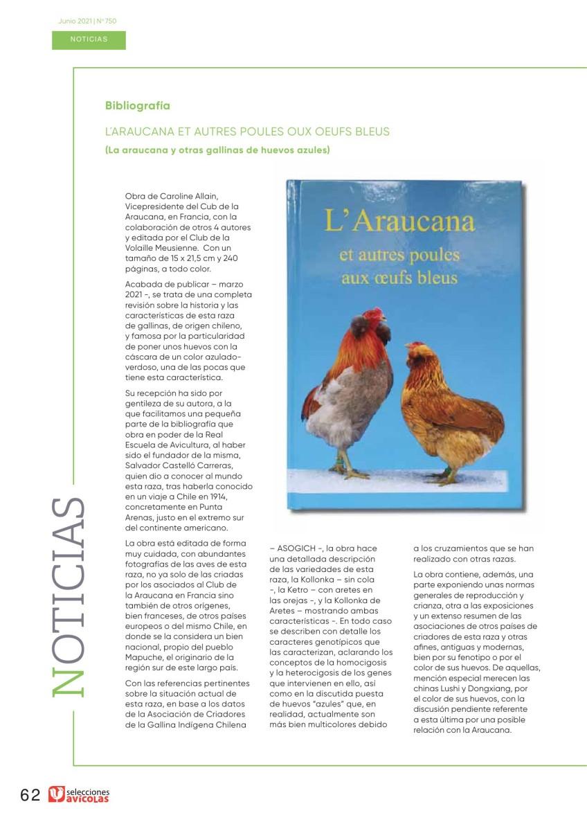 Bibliografía: La araucana y otras gallinas de huevos azules
