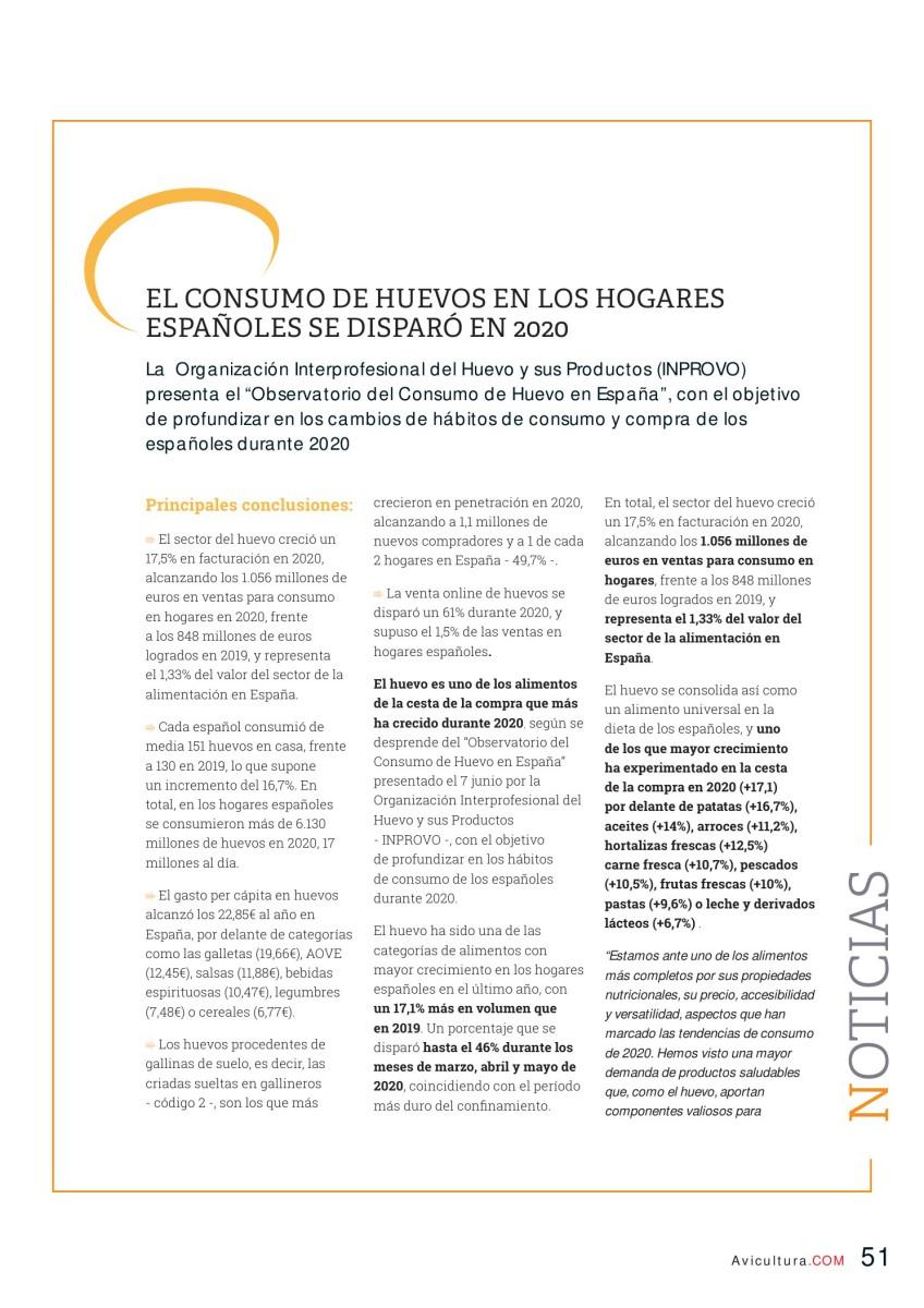 El consumo de los huevos en los hogares españoles se disparó en 2020