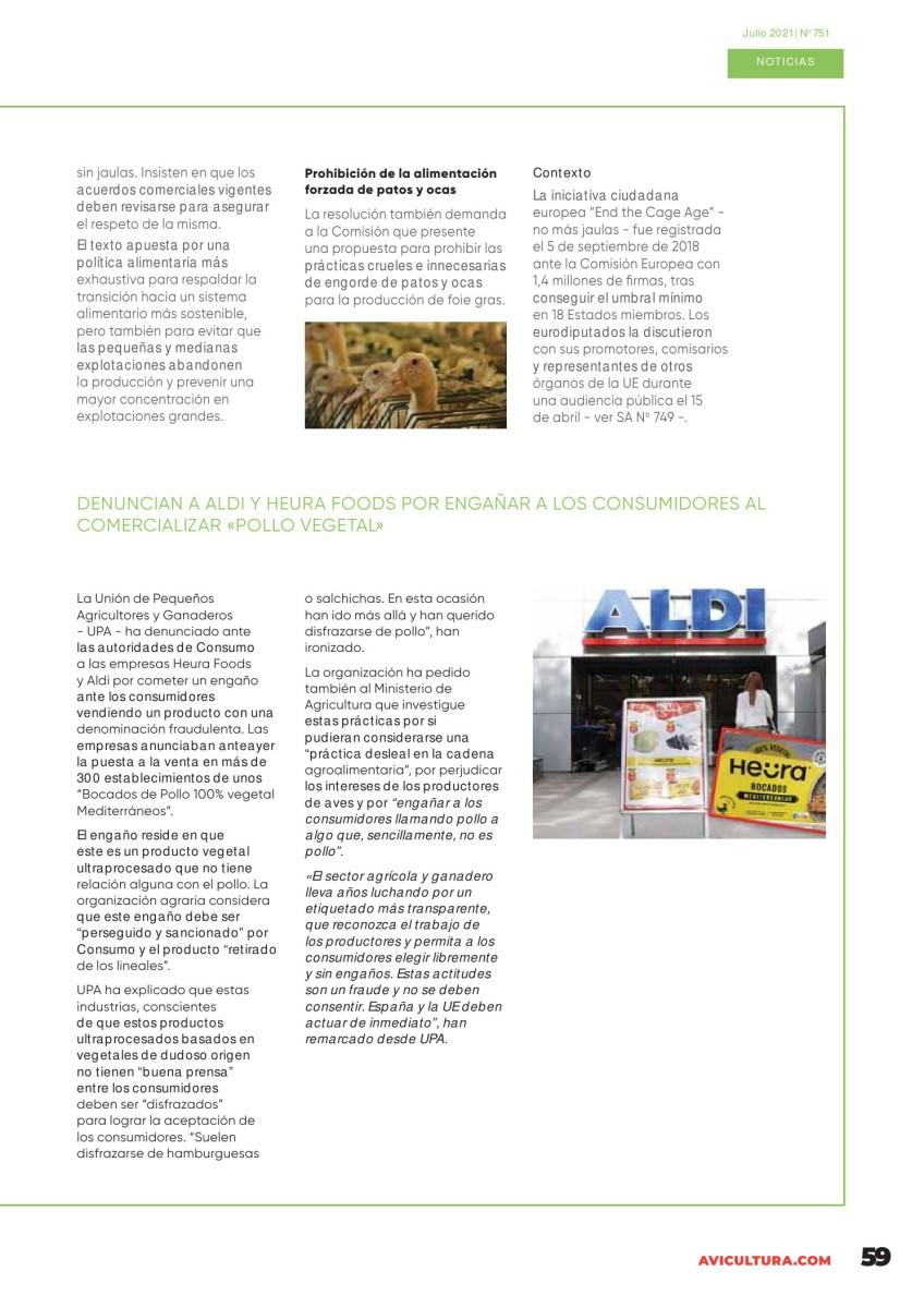 Denuncian a ALDI y Heura Foods por engañar a los consumidores al comercializar «pollo vegetal»