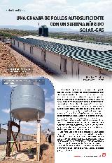 Una granja de pollos autosuficiente con un sistema híbrido solar-gas