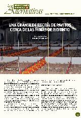 Una granja de recría de pavitos cerca de las Minas de Riotinto