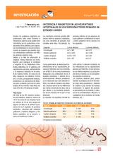 Incidencia y magnitud en las helmintiasis intestinales de los reproductores pesados en Estados Unidos