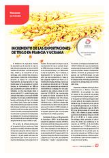 Incremento de las exportaciones de trigo en Francia y Ucrania