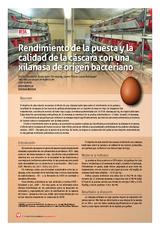 Rendimiento de la puesta y la calidad de la cáscara con una xilanasa de origen bacteriano