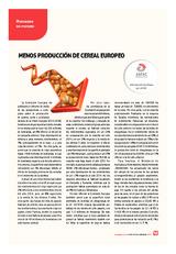 Menos producción de cereal europeo