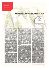 UE: producción de cereales a la baja