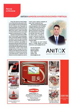 ANITOX (R) aumenta su inversión en España y Portugal