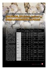 Especias y hierbas en nutrición de los broilers: efectos del ajo (allium sativum l.) sobre la producción de pollos