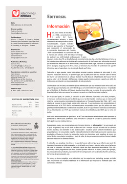 Editorial - Información