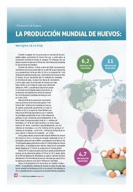 La producción mundial de huevos: situación actual y previsiones