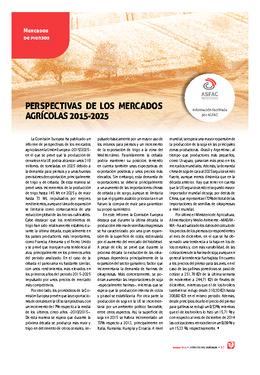 Perspectivas de los mercados agrícolas 2015-2025