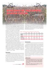 Resultados del maíz español de nueva cosecha