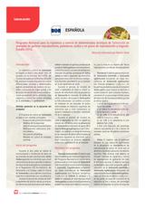 Programa Nacional para la vigilancia y control de determinados serotipos de Salmonella en manadas de gallinas reproductoras, ponedoras, pollos y en pavos de reproducción y engorde. España 2016