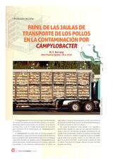 Papel de las jaulas de transporte de los pollos en la contaminación por Campylobacter