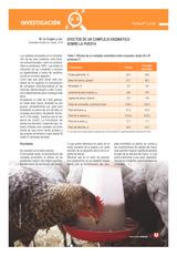 Efectos de un complejo enzimático  sobre la puesta