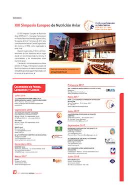 XXI Simposio Europeo de Nutrición Aviar
