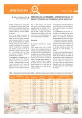 Respuesta de los broilers a diferentes niveles de calcio y fósforo, en presencia o no de una fitasa