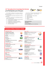 12ª Jornadas de la Investigación Avícola y de Palmípedas para foie gras